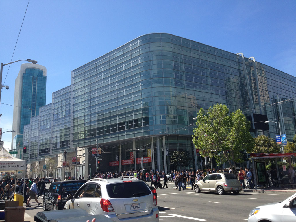 Moscone West, where most of the sessions and presentations for GDC happened.