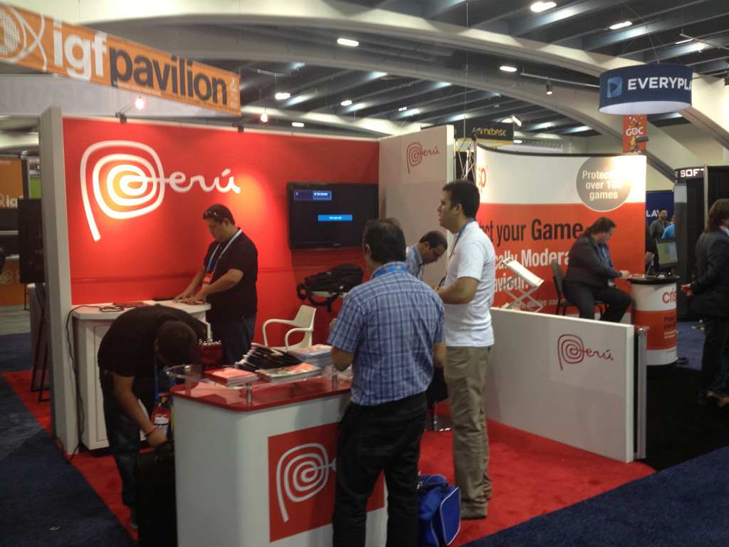 Peru's country booth within the GDC exhibit floor.